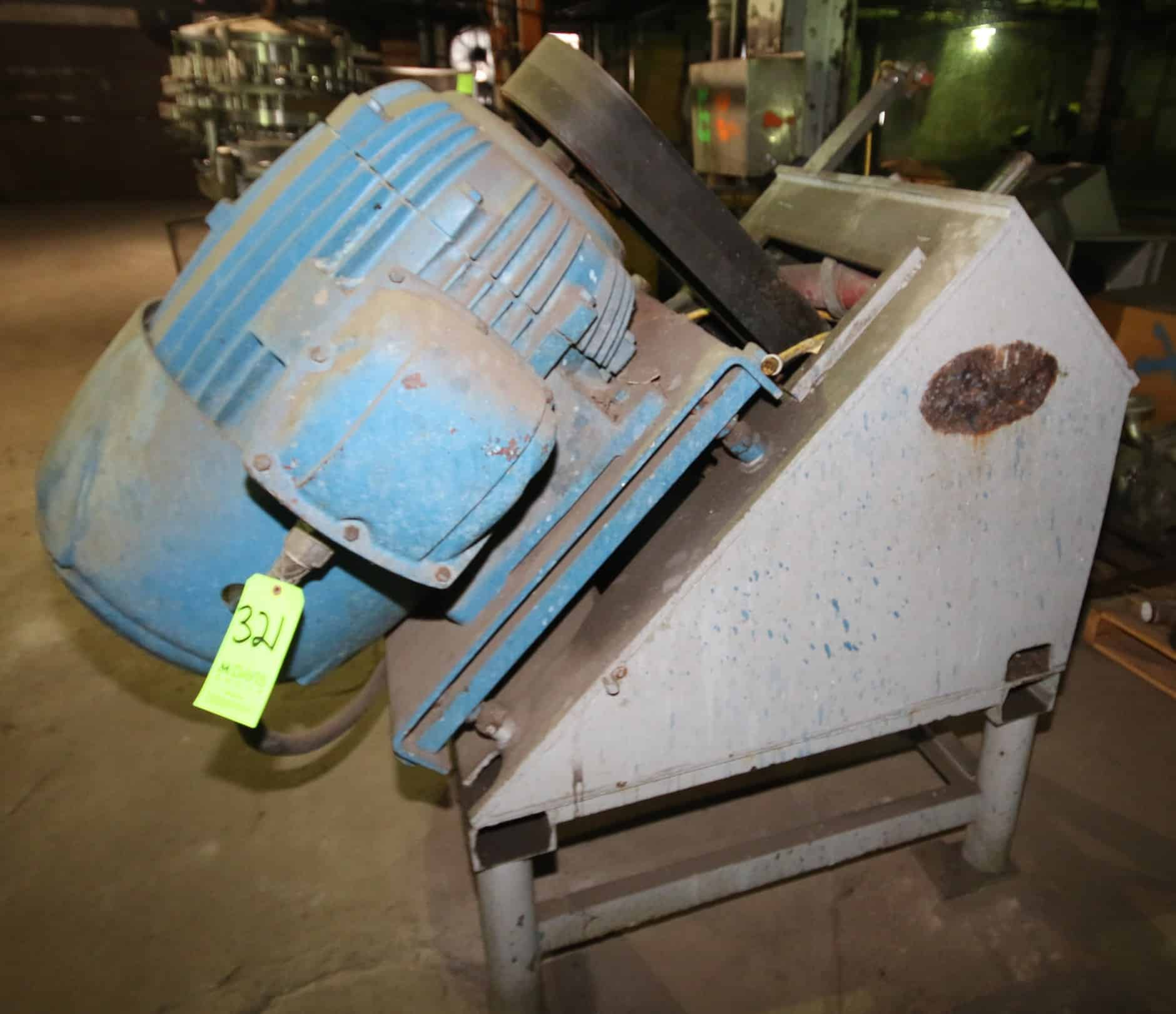 (2) Reitz Disintegrator Frames, Model RA-3-12-K122 &  RA-3-K322, with 75 hp & 50 hp Motors