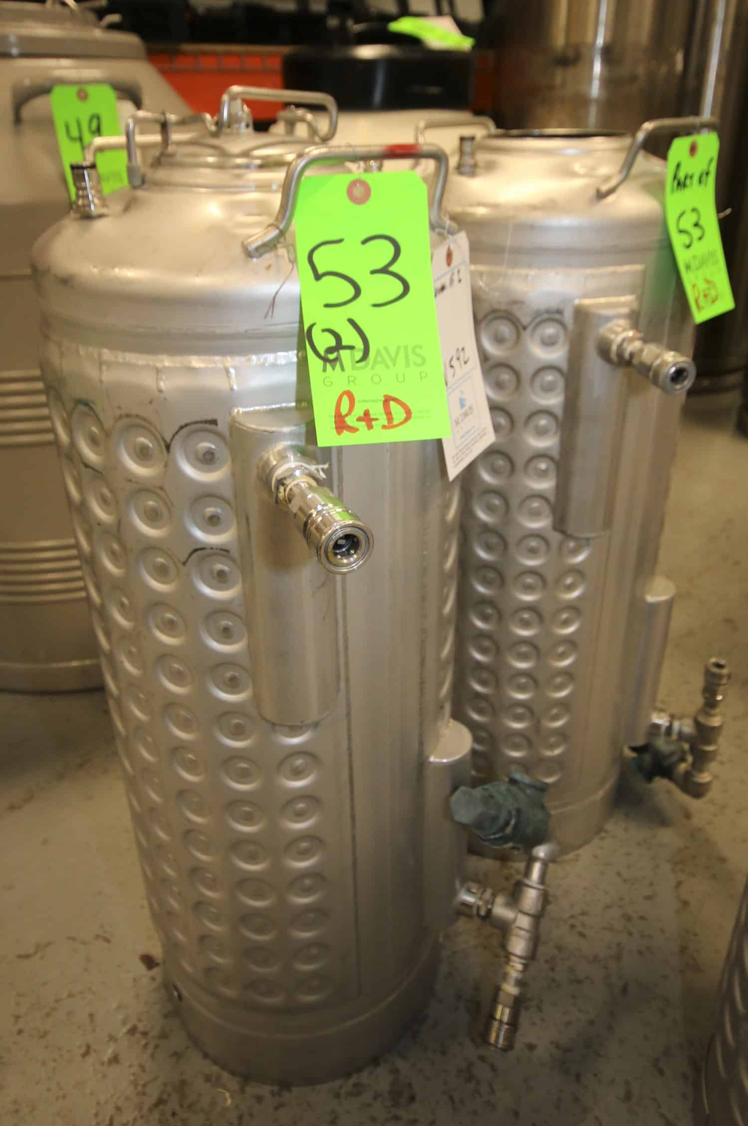 "(2) Apache 32"" H x 12"" W Dimple Jacket S/S, SN 27911-2 & 3 Pressure, Vessels"
