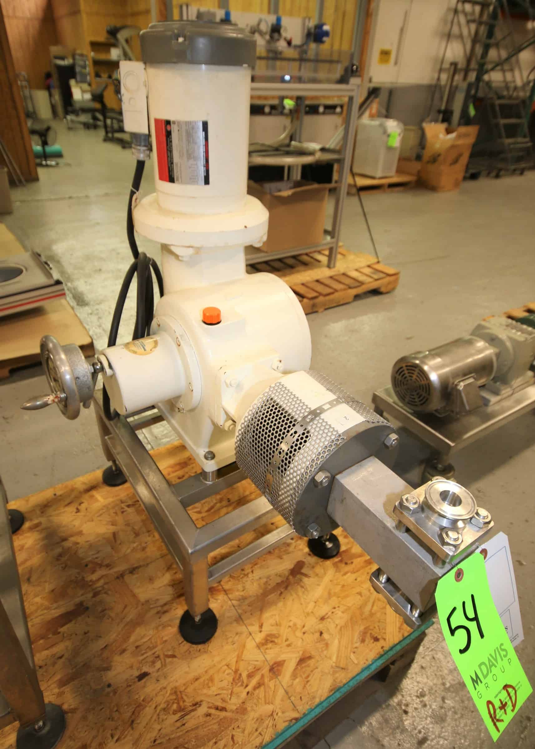 "Bran - Lubbe Metering Pump, Type N-D431, SN A11420, with 1.5"" Clamp Type Connections, US Motors 2 hp / 1725 rpm Drive Motor, 230/460V 3 Phase, Mounted on S/S Frame"