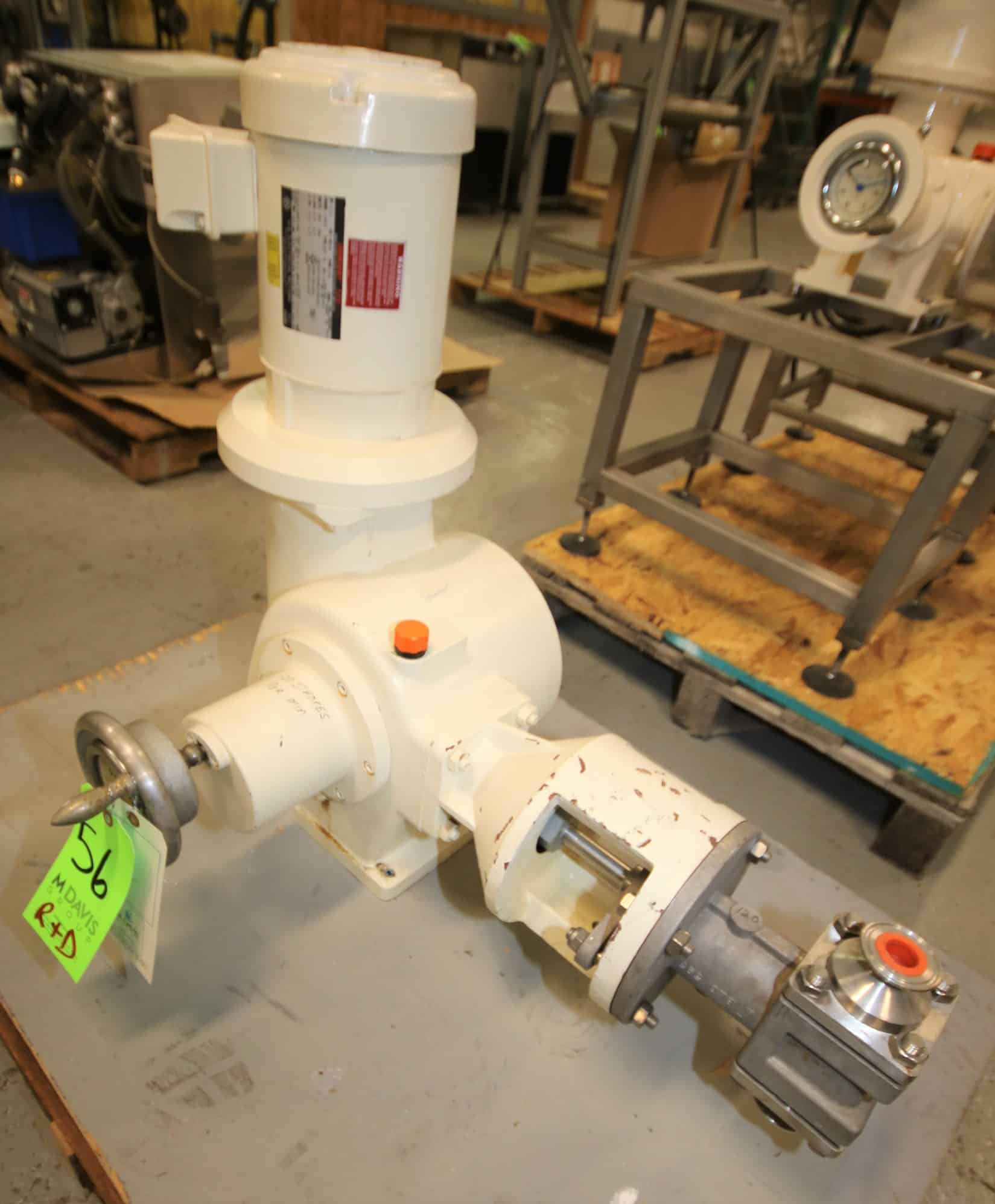 "Bran - Lubbe Metering Pump, Type N-D31, SN A9274, with 1.5"" Clamp Type Connections, US Motors 2 hp / 1725 rpm Drive Motor, 230/460V 3 Phase"