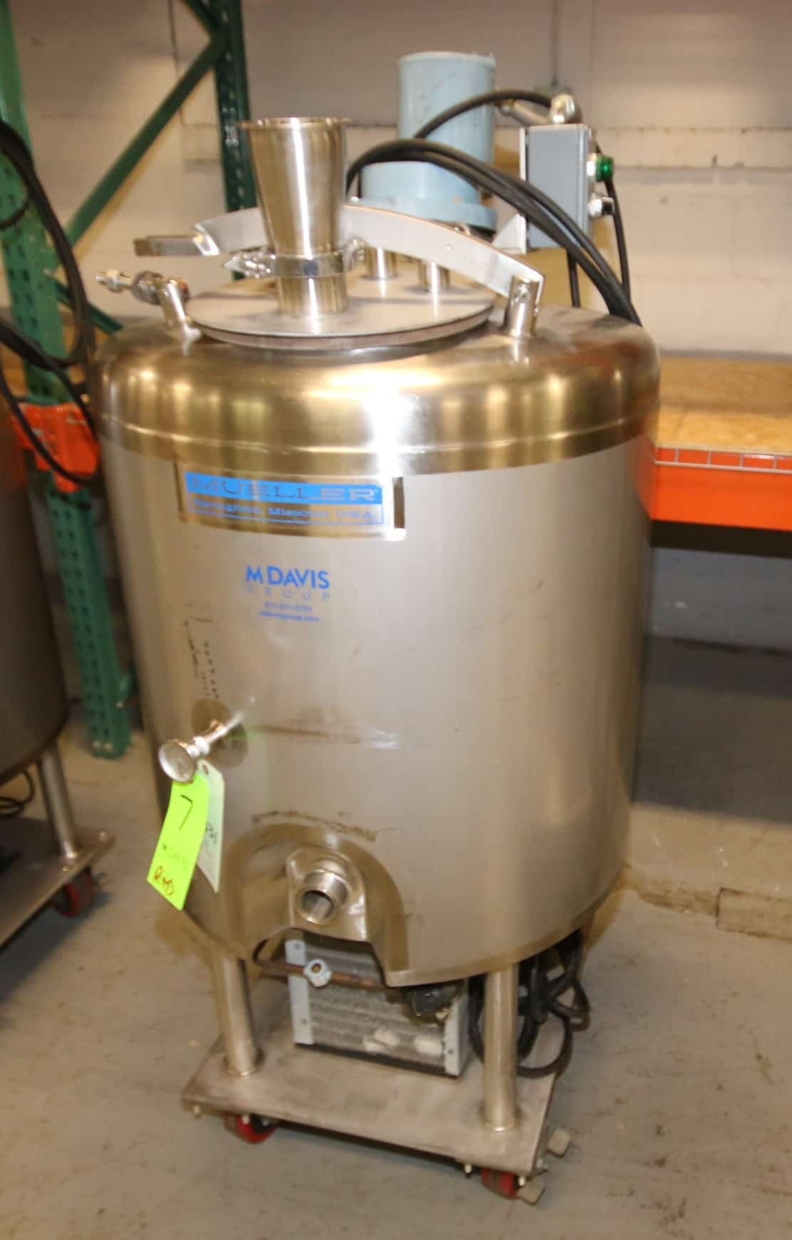 (2) Mueller Aprox. 50 Gal. Dome Top S/S Refrigerated Portable Mix Tanks, Model D, S/N F42170-2, with Hinged Lids, 1/6 hp @ 1425/1725 RPM, 230V, Includes On-Board Copeland R22 Freon Compressors, Mounted on Casters