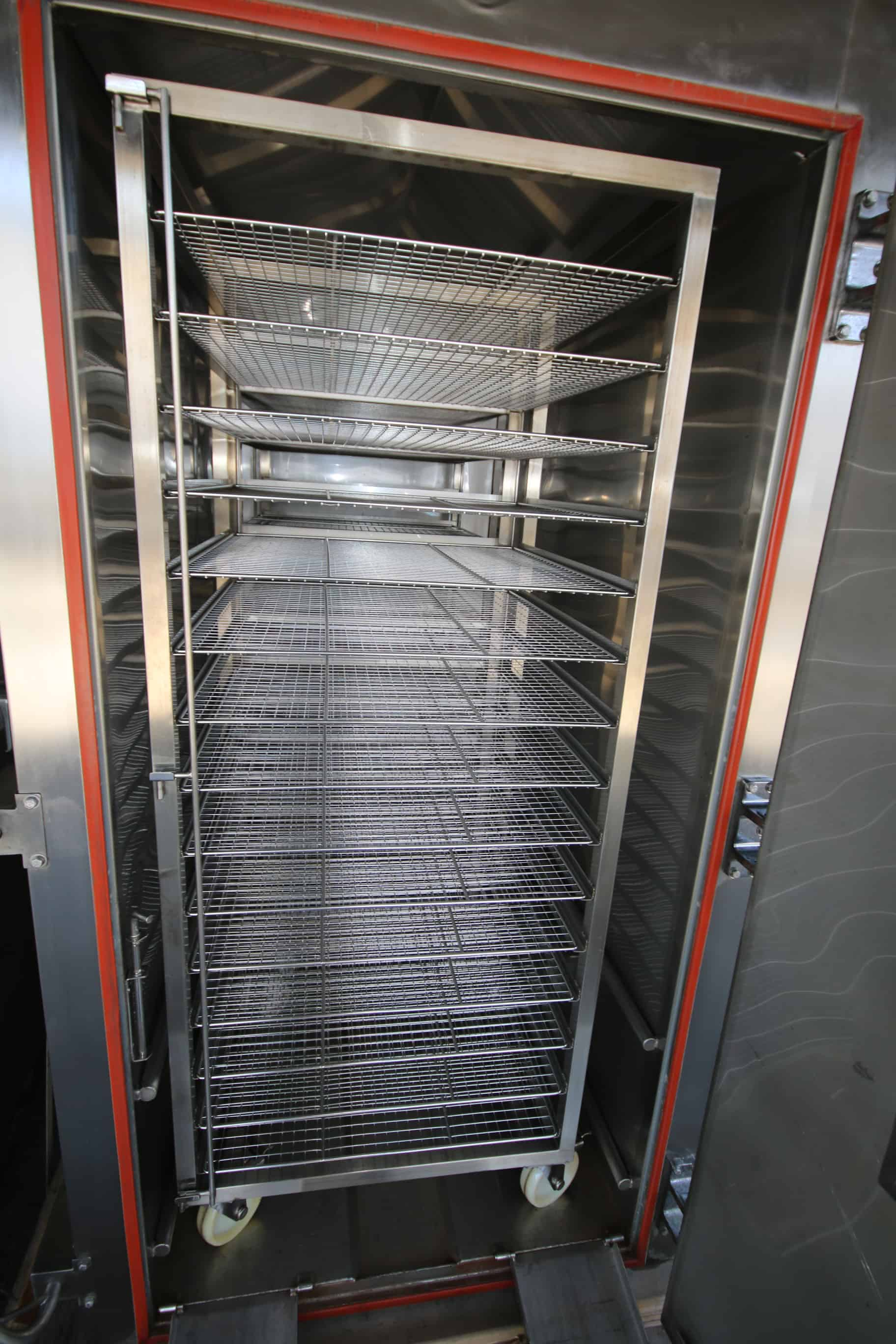 NEW Yuan Jaan S/S Double Rack Oven, M/N KS-702, with (2) S/S 15-Shelf Portable Racks, 220 Volts