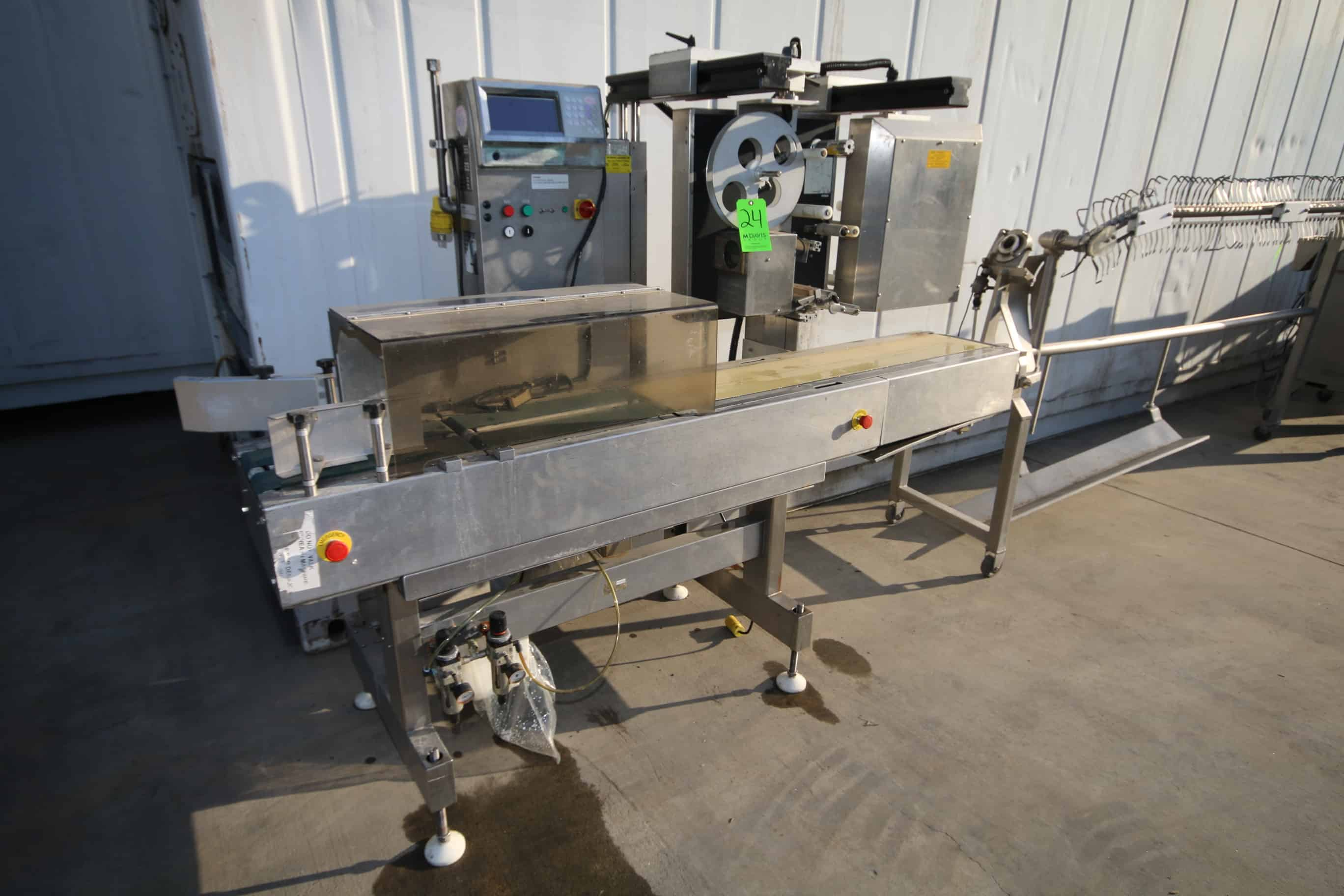 "S/S Checkweigher and Labeling System, with Aprox. 7' L Belt x 7-1/2"" W Belt"