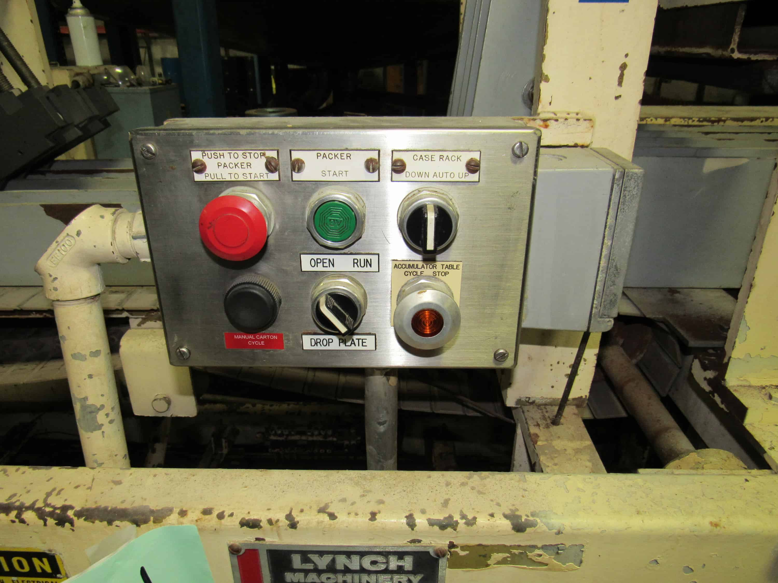 Drop  Case Packer - Lynch-Machinery Miller-Hydro with spare parts and manuals  -- (LOCATED IN IOWA, RIGGING INCLUDED WITH SALE PRICE) -- Optional  Palletizing Fee $225.00***EUSA***