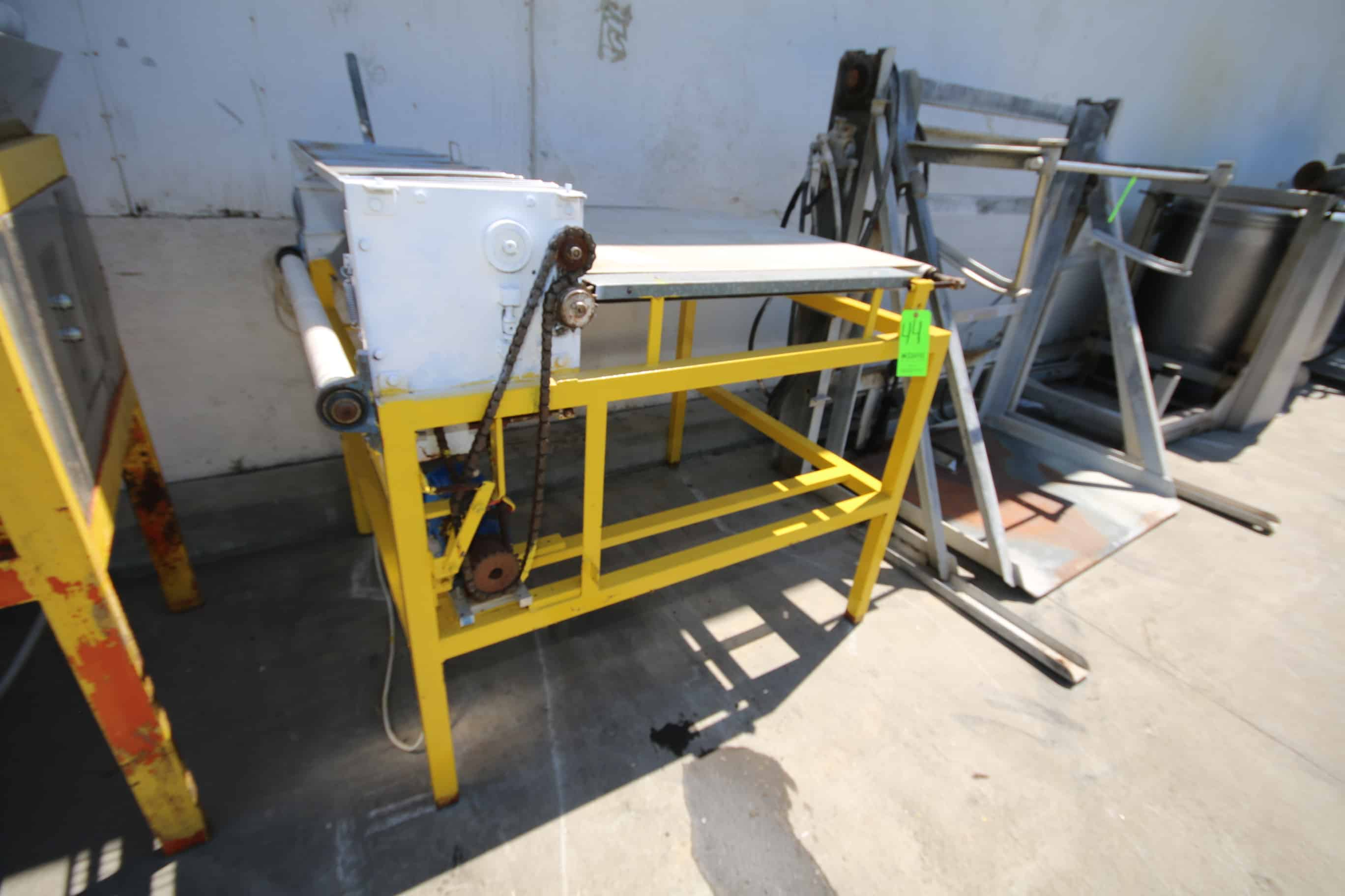 "Dough Sheeter, with 39"" W Infeed Conv. 42"" W S/S Rolls with Drive"