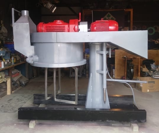 """Used Double Planetary Mixer. Believed to be a ROSS 150 gallon model CDM-150. Unit comes with (11) 40"""" ID x 32"""" Deep, Carbon Steel Mix Cans with 4"""" outlets with valve. 15 HP, 1800 rpm, 208-220/440 volt, Explosion Proof motor.(Located in New Jersey)***ECR***"""