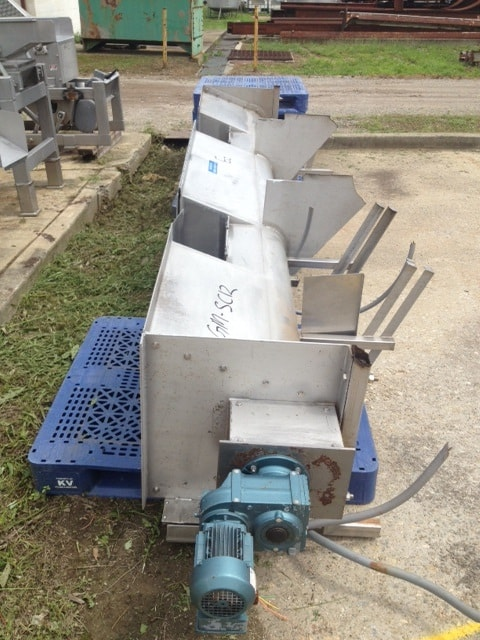"S/S Screw Conveyor, 11"" Dia. X 12'6"" L, with S/S Auger with SEW Drive Motor (Located in New Jersey)***ECR***"