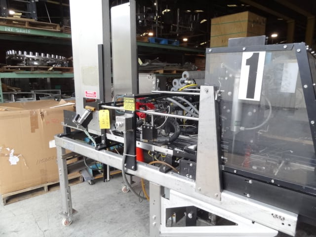 Hartness Tray Former, Model # TF-50, S/N 16-089, single forming head / comes with two mandrels - approx. 11-1/2″ x 9″  and 16-3/4″ x 11-1/4″ / Nordson hot melt glue / Allen-Bradley MicroLogix 1500 (Located in South Carolina)***NORTH***