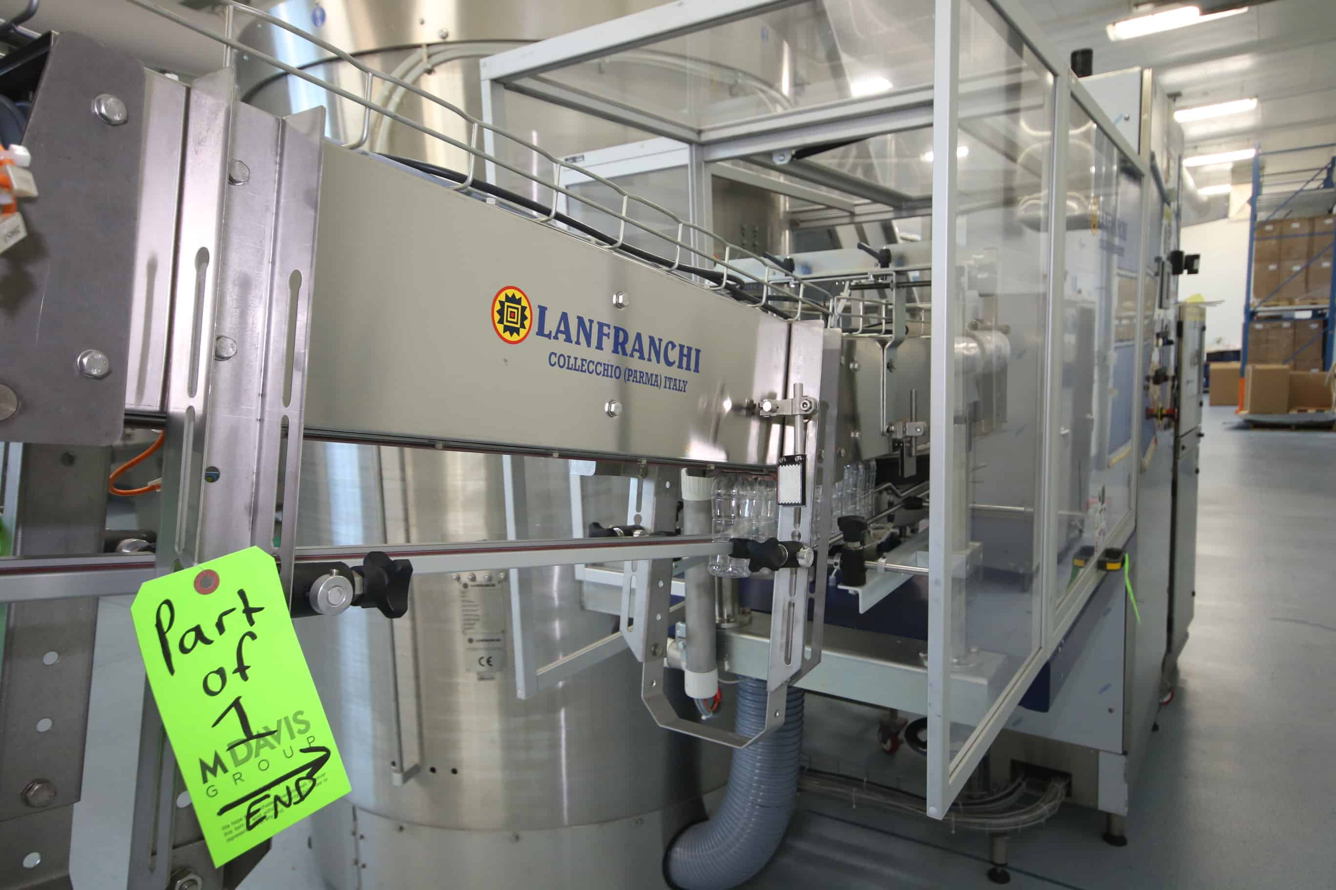 2009 Lanfranchi S/S Bottle Unscrambler, Type RM.STD.9, S/N 18241.1423.09, 5,000 Bottle Per Hr. Output, with Upright Cylinder Orientor Carasel, with Allen Bradley PanelView Plus 600, with Incline Discharge Air Conveyor