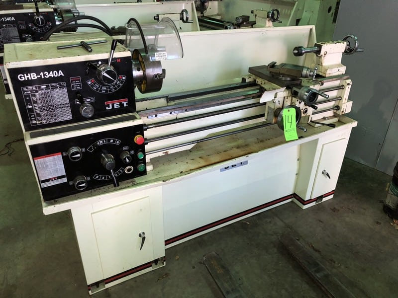 "1Jet Lathe, M/N GHB-1340A, S/N 10102364A, with Aprox. 55"" Working Area 4-1"