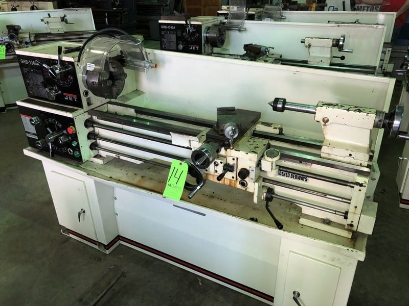 "14Jet Lathe, M/N GHB-1340A, S/N 10102364A, with Aprox. 55"" Working Area -2"