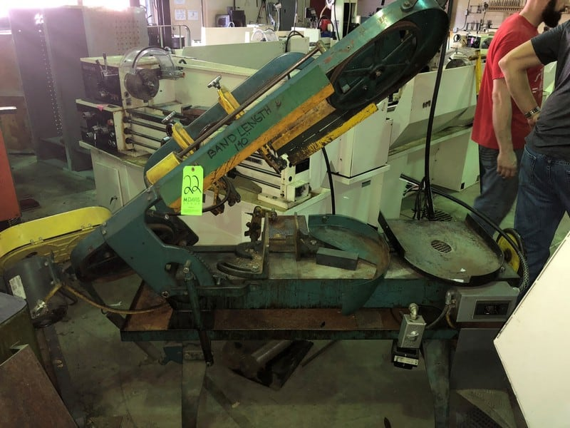 Wellsaw Horizontal Band Saw, Model 8, S/N 22357, Band Length 140""