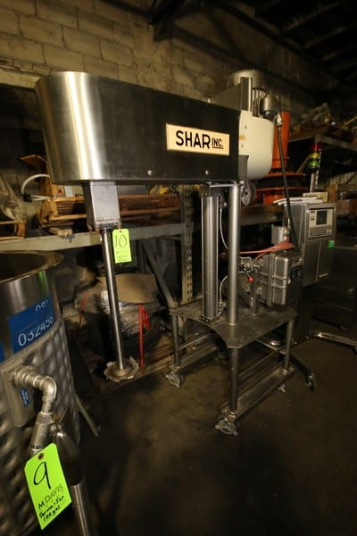 "Shar Inc. S/S Portable Agitator, M/N D-100 SP, S/N 6609180, 230 Volts, 10 hp Motor, 31"" Lift, Class 1 Explosion Proof Control Cabinet (LOCATED IN FT. WORTH, TX)"
