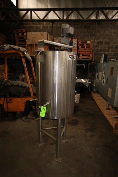Walker 50 Gal. S/S Jacketed Tank, 304 S/S, M/N PZ, S/N 8579, 15 PSIG @ 250 F (LOCATED IN FT. WORTH, TX)