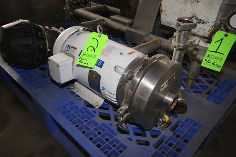 "WCB 15 hp Centrifugal Pump, M/N 2085L, S/N 420417-07, with 2"" x 2"" S/S Clamp Type Inlet/Outlet, with 3450 RPM Motor, 230/460 Volts (LOCATED IN FT. WORTH, TX)"