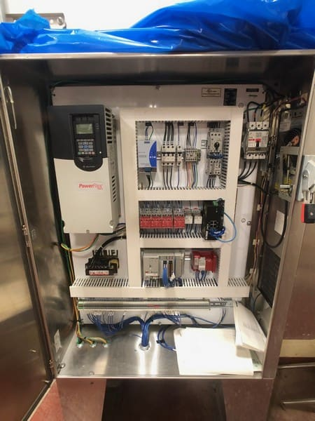 S/S Control Cabinet for Mixer with CompactLogix L24 ER PLC, Allen Bradley PowerFlex 755 VFD (Located in Pittsburgh Approximately 15 Minutes From M Davis Group Auction Showroom)(Sold Subject to Confirmation)