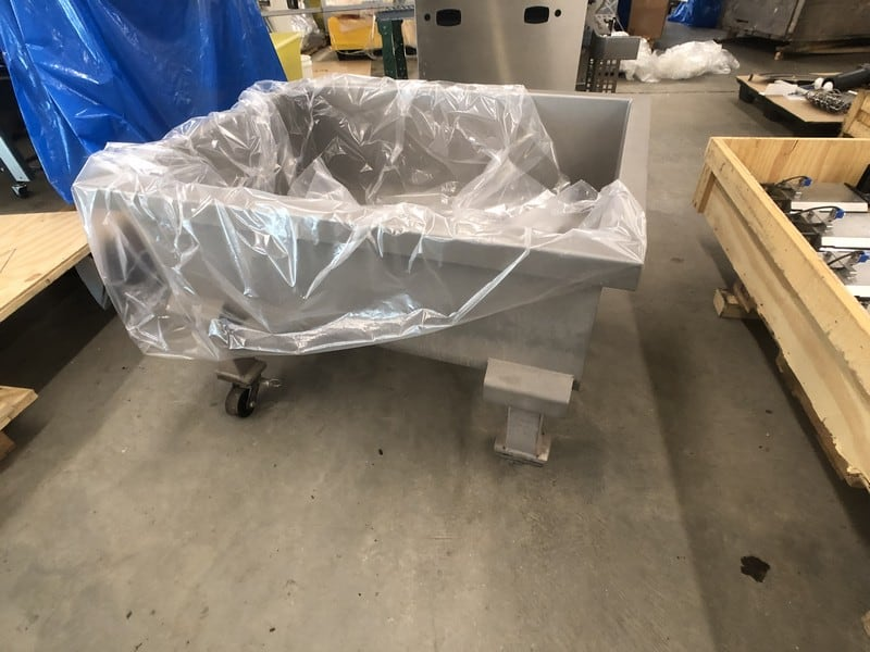 "2016 Shaffer S/S 13 Cubic Foot Portable Dough Trough for Mixer, Model DT13, 47"" W, Mounted on Casters (Located in Pittsburgh Approximately 15 Minutes From M Davis Group Auction Showroom)(Sold Subject to Confirmation)"