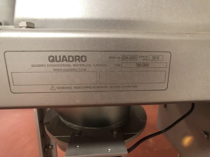 2016 Quadro G94 Comil, Model G94-0031, 700-2800 RPM, Sterling Electric 5-HP 1760 RPM S/S Motor, Includes Lenze AC Tech SMVector Frequency Inverter, Mounted on Casters, Date of Manufacture: October 2016 (Located in Pittsburgh Approximately 15 Minutes From M Davis Group Auction Showroom)(Sold Subject to Confirmation)