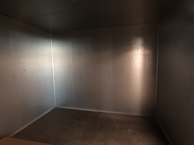 """2016 Carrroll Coolers 11' x 17' x 8'6"""" H Walk-In Cooler, S/N CI-259258, Cam-Locking Style Wall Panels with Lag-Down Style Cealing Panels, 2-Fan Evaporative Blowers, 60"""" x 84"""" H Cooler Door, 12680 BTU, 120V, 1-Phase, DOM: 9-8-2016 (Located in Pittsburgh Approximately 15 Minutes From M Davis Group Auction Showroom)(Sold Subject to Confirmation)"""