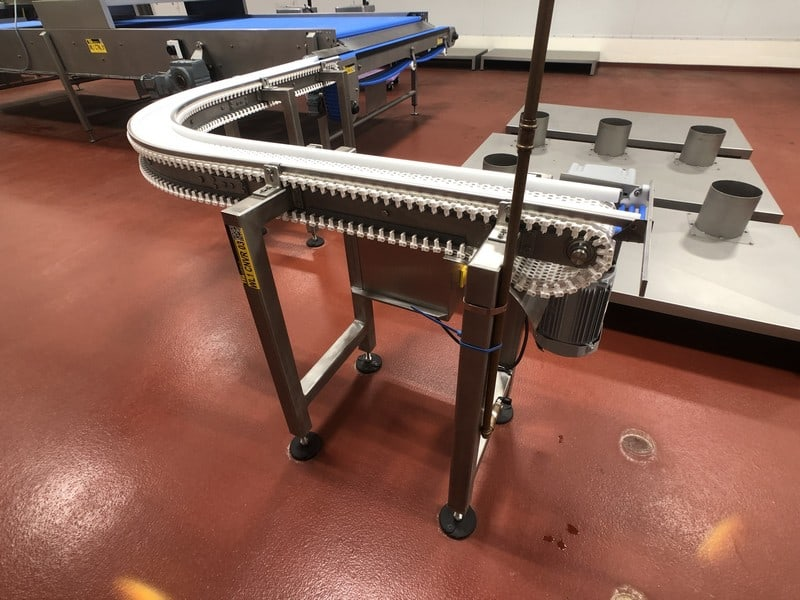 "2016 B.D. Briggs 90 Degree S/S Product Conveyor, S/ N RVW 002Approx. 6""W x 124"" L, Belt Speed 50' Per Minute (Located in Pittsburgh Approximately 15 Minutes From M Davis Group Auction Showroom)(Sold Subject to Confirmation)"