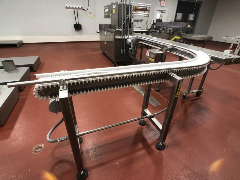 "2016 B.D. Briggs 90 Degree S/S Product Conveyor, S/ N RVW 001, Approx. 6""W x 124"" L, Belt Speed 50' Per Minute (Located in Pittsburgh Approximately 15 Minutes From M Davis Group Auction Showroom)(Sold Subject to Confirmation)"