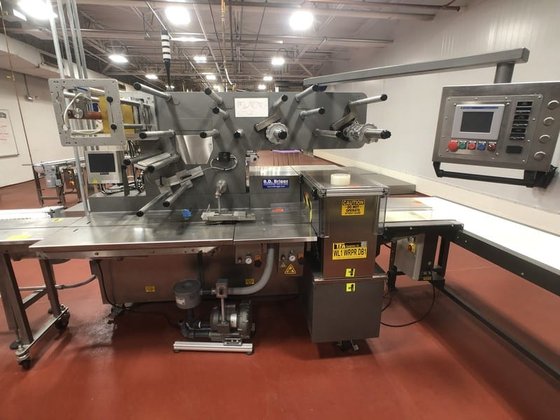 Doboy Flow Wrapper, Model Microtronic, S/N 96-18786, with Video Jet Date Coder D13112133TZH, SCREEN: 8.4 CLARITY, Gast MFG Corp Regenair Vacuum Pump, Model R3105-1, 53/44 CFM (Located in Pittsburgh Approximately 15 Minutes From M Davis Group Auction Showroom)(Sold Subject to Confirmation)