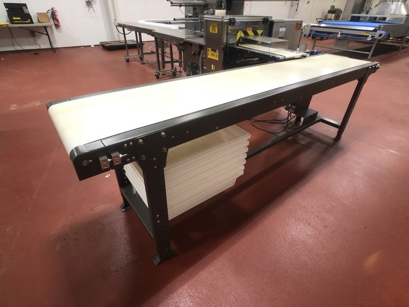 "Straight Section of Product Conveyor, Approx. 17"" x Approx. 105"" L (Located in Pittsburgh Approximately 15 Minutes From M Davis Group Auction Showroom)(Sold Subject to Confirmation)"