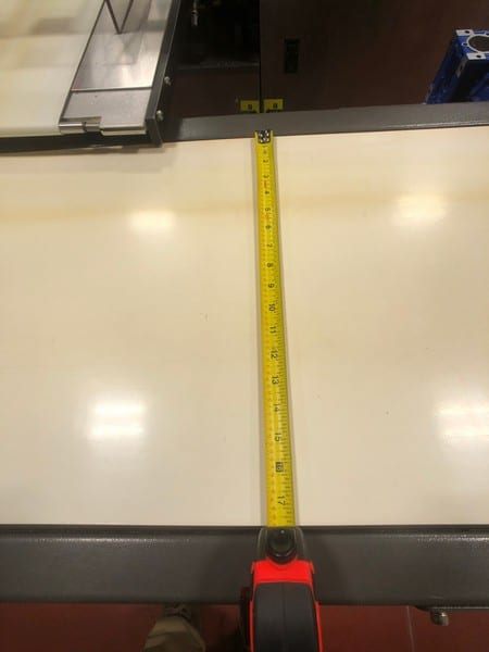 """Straight Section of Product Conveyor, Approx. 17"""" x Approx. 105"""" L (Located in Pittsburgh Approximately 15 Minutes From M Davis Group Auction Showroom)(Sold Subject to Confirmation)"""