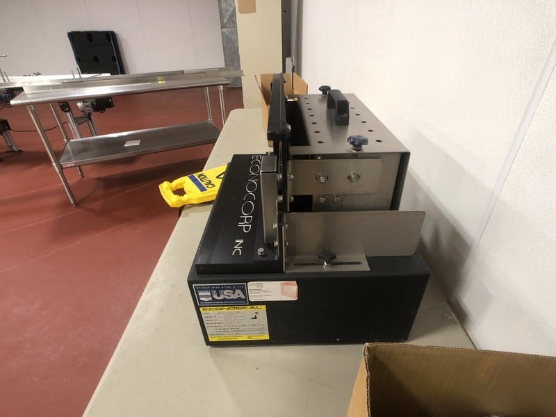 2016 Econoseal Mini Monoseal Semi-Automatic Carton Flap Glue Sealer Model 10302, S/N 10672, 220 V, DOM: 12/15/16 (Located in Pittsburgh Approximately 15 Minutes From M Davis Group Auction Showroom)(Sold Subject to Confirmation)