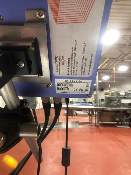 Sojet Box Coder, S/N 202059, Mounted on Case Conveyor (Located in Pittsburgh Approximately 15 Minutes From M Davis Group Auction Showroom)(Sold Subject to Confirmation)
