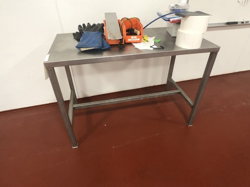 """S/S Table, Approx. 48"""" L x 24"""" W  (Located in Pittsburgh Approximately 15 Minutes From M Davis Group Auction Showroom)(Sold Subject to Confirmation)"""