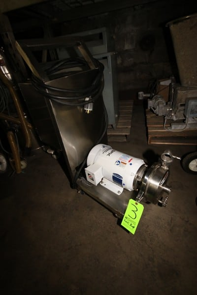 "2011 WCB 5 hp Centrifugal Pump, M/N S2065LV, S/N 1000002727580, with 3500 RPM Baldor Motor, 208-230/460 Volts, Mounted on S/S Portable Frame, with Allen Bradley PowerFlex 4 VFD, with S/S Control Panel, 1-1/2"" x 1-1/2"" S/S Clamp Type Inlet/Outlet (LOCATED IN FT. WORTH, TX)"