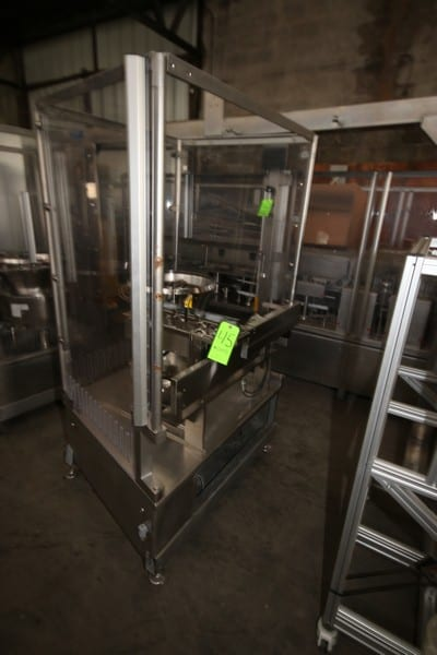 IV FILLING AND PACKAGING LINE, INCLUDING Alphacos Dual Lane IV Filler, Alphacos 4-Door Control Panel, RNA S/S Orientor, Dual Pick N' Pack Machine, S/S Jacketed Reactor, Domino Ink Jet System, LOTS 43-48 (LOCATED IN FT. WORTH, TX)