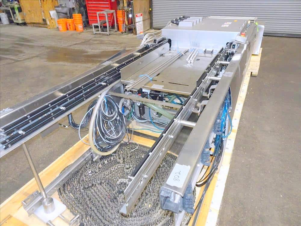 "Multivac Model R535 Horizontal Form Fill and Seal Thermoformer. Has dual web arbors, (3) manual load sections with load areas measuring 140"" L X 25"" W (each), also includes BUSCH vacuum and flush pumps. Has Multivac direct-web printing system with VideoJet printer. Machine currently set on 12"" diameter cutting dyes. Includes Schlumpf hydraulic assisted film reel loader. Allen Bradley controls. Serial no.: 178370. Built: 2014."