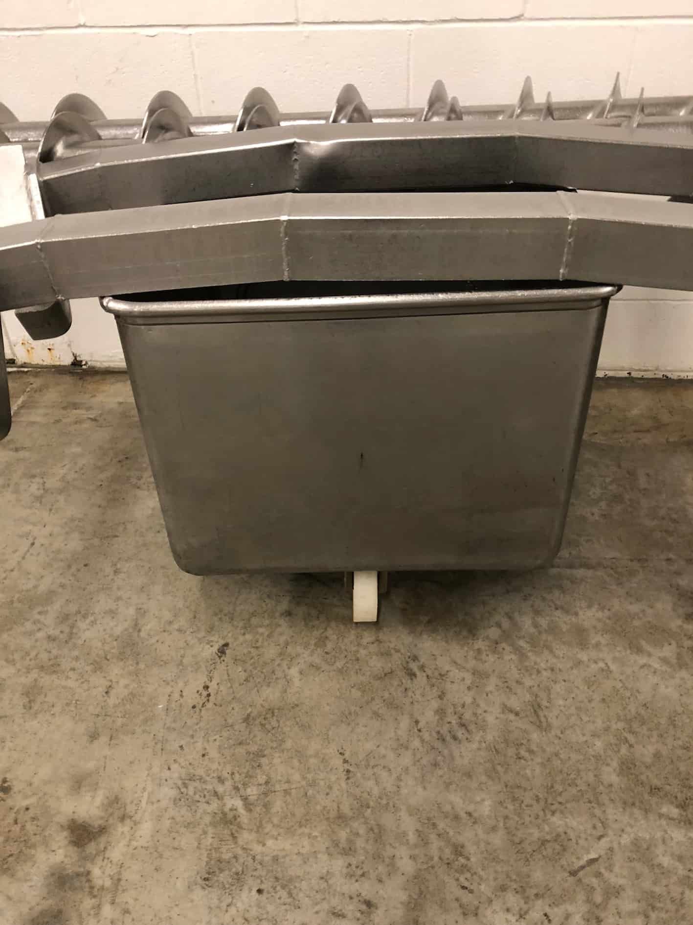"(2) Portable Stainless Steel Totes for Bridge Dump, Approximately 26"" x 26"""