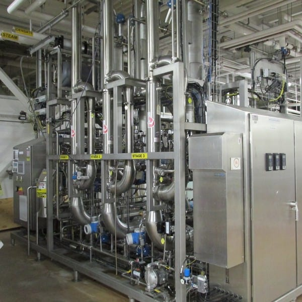 """2011 GEA 3-Stage Cross Flow Micro Filtration System, GEA Process Engineering Contract # 3099-1026, Type E2 Extract Fractionation, Feed Rate 16-22 Kg/Min, Permeate 80% of Feed, Each Stage 14.5 m2, temp 92-95 C, Recirculation Flow 5,800-6,000 L/Min, Target Solids Recovery Min 45%, Tubular SS 0.5 mm Pore Size 3/8"""" Tube Dia., CIP Caustic 6%, Engineering Drawings, Documentation and MAnuals Available Upon Request (Cost ~$850,000 in 2011) (Uninstalled and Stored in Pittsburgh. Removed From Production in January 2019)"""