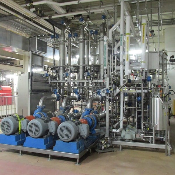 "2011 GEA 3-Stage Cross Flow Micro Filtration System, GEA Process Engineering Contract # 3099-1026, Type E2 Extract Fractionation, Feed Rate 16-22 Kg/Min, Permeate 80% of Feed, Each Stage 14.5 m2, temp 92-95 C, Recirculation Flow 5,800-6,000 L/Min, Target Solids Recovery Min 45%, Tubular SS 0.5 mm Pore Size 3/8"" Tube Dia., CIP Caustic 6%, Engineering Drawings, Documentation and MAnuals Available Upon Request (Cost ~$850,000 in 2011) (Uninstalled and Stored in Pittsburgh. Removed From Production in January 2019)"