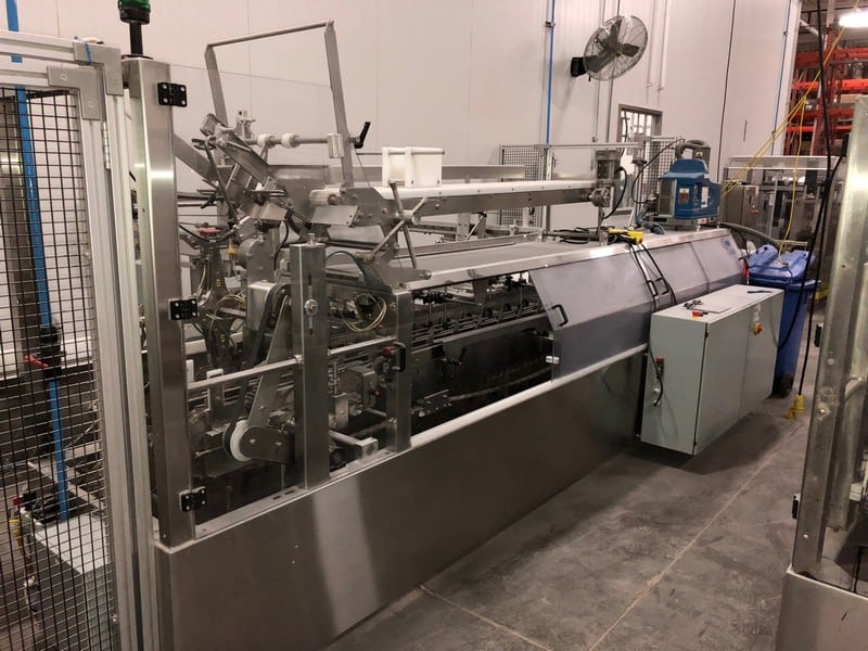 Consolidated Technology Automatic  Cartoner, M/N HC3200, S/N P8027-3, 208 Volts, 3 Phase, 10-Bags per Cycle, with Nordson 7 ProBlue Glue Pot, S/N SA13G96142, with VFDs and Controls
