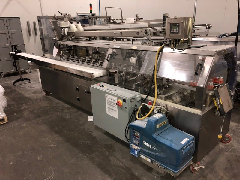"Consolidated Technology Manual Cartoner, M/N HC 120, S/N 3897-3, 208 Volts, 3 Phase, 10-Bags per Cycle, with Nordson 7 ProBlue Glue Pot, with VFDs and Controls, Includes 158"" L x 8-1/2"" W Infeed Conveyor"
