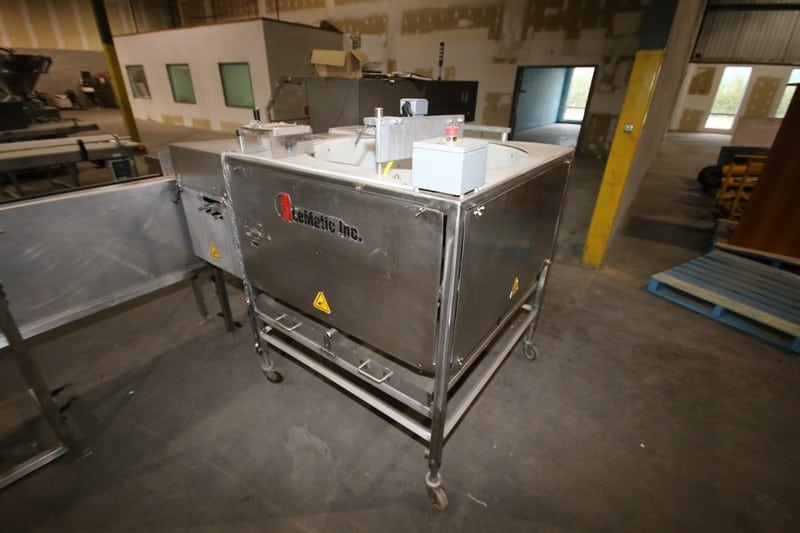 LeMatic Inc. Rotary Slicer, M/N RS, S/N 35020610, Mounted on Portable S/S Frame