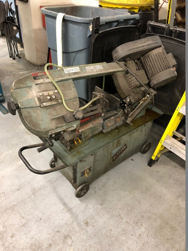 King Horizontal Band Saw, S/N 27K0704, 120 Volts