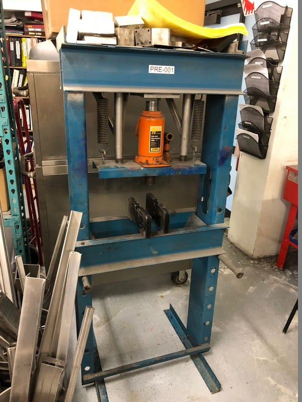 Hydraulic Press, with 20-Ton StrongArm Axle Jack
