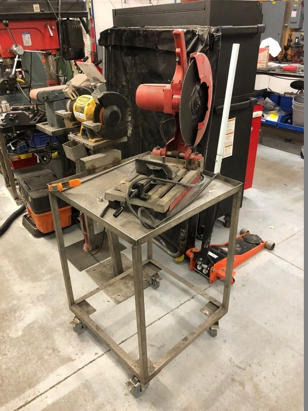 Milwaukee Chop Saw, On Portable S/S Cart