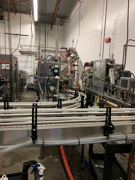 Cask ACS Twinned Canning Line from Depalletizer to Accumulation Table