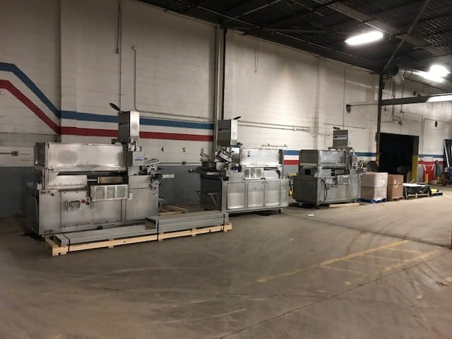 (3) Formax F26 Forming Machine, SN700, Tenderform Fill System, 26' Usable Product Width, Allen Bradley Controls, 7.5 hp Mold Plate Drive Motor, 7.5 hp Hydraulic Compression System, 500lb Hopper Capacity, 25 - 80 Strokes per Minute, 460V / 3PH / 60Hz. Units are Complete with all Safety Covers, Books and Manuals. (Located in Lynhurst, NJ)