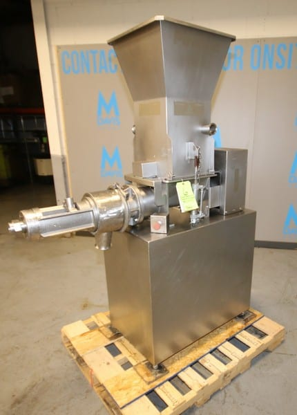 """Beehive / Weiler S/S Deboner / Separator, Model RSBF02, SN 1251, with Dual Auger Feed, 18"""" x 18"""" S/S Feed Hopper, 460V 3 Phase, (2006 Mfg), Mounted on Casters, Includes Manuals, (W882)"""