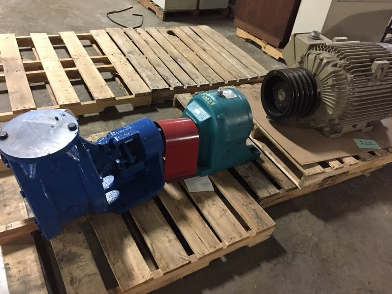 "Heavy Duty Viking Pump Model M-125, 6"" Inlet-Outlet, flanged inlet and outlet 11"", gear box is Link-Belt In-line Helical Drive, and 60HP electric motor. - Loading at no charge, palletizing $75.00"