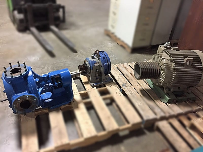 "Heavy Duty Viking Pump, Model M-125, 4"" Inlet/Outlet, 9"" flanged inlet/outlet, 60HP electric motor, SM-Cyclo Gear Box Reducer - Loading at no charge, palletizing $75.00"