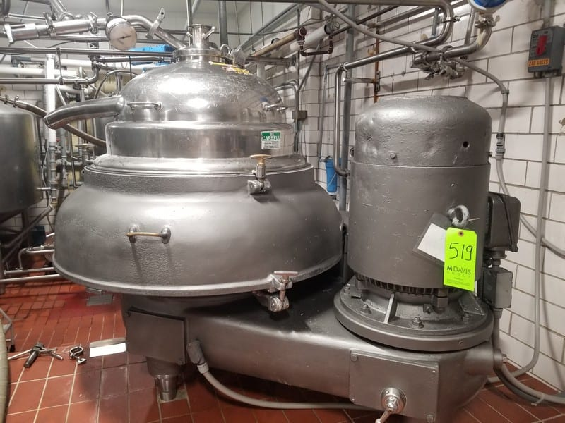 Westfalia quark separator ; SIH10007; 3500 L/H (Located in Dixon, IL) (Rigging and Handling Fee: $1000) (Not Available for Removal Until September)
