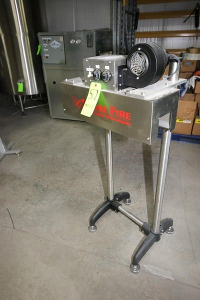 "2016 Phase Fire S/S Shrink Tunnel, M/N 32-001-000, S/N A-17L07-1839, 220 Volts, with 4"" W Opening, Mounted on S/S Stand ***LOCATED IN MECHANICSVILLE, VA***"